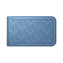 Dosh Embossed Cubic Blue